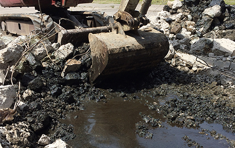 oil contaminated soil remediation