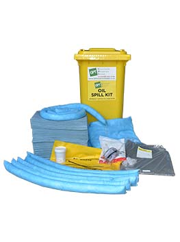 oil spill kit 240 litre wheelie bin