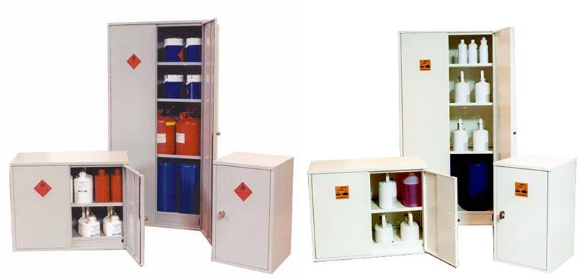 safety storage cabinets for chemicals and flammables