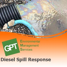 Diesel spill clean up