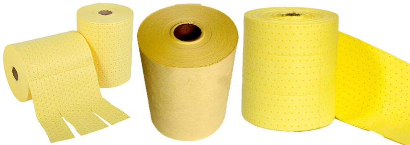 non linting chemical absorbent mini rolls