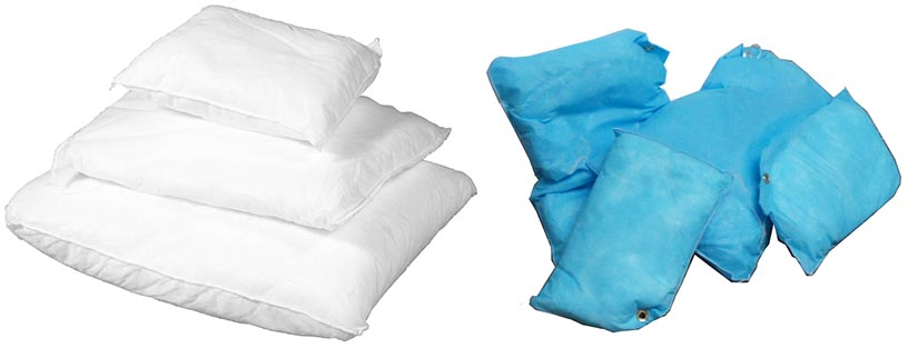 oil selective cushions small and large blue and white