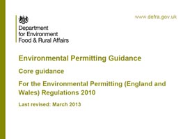 Environmental Permitting Regulations Guidance