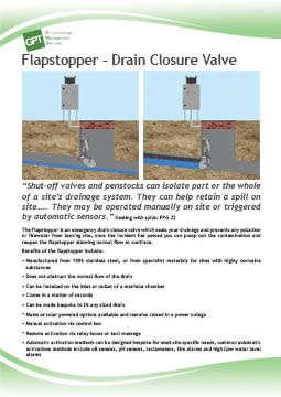 flapstopper drain closure device flyer