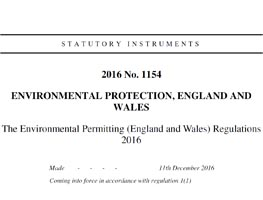 Environmental Permitting Regs